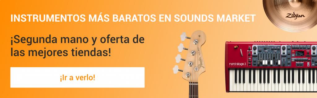 Comprar instrumentos musicales más baratos segunda mano y ocasión