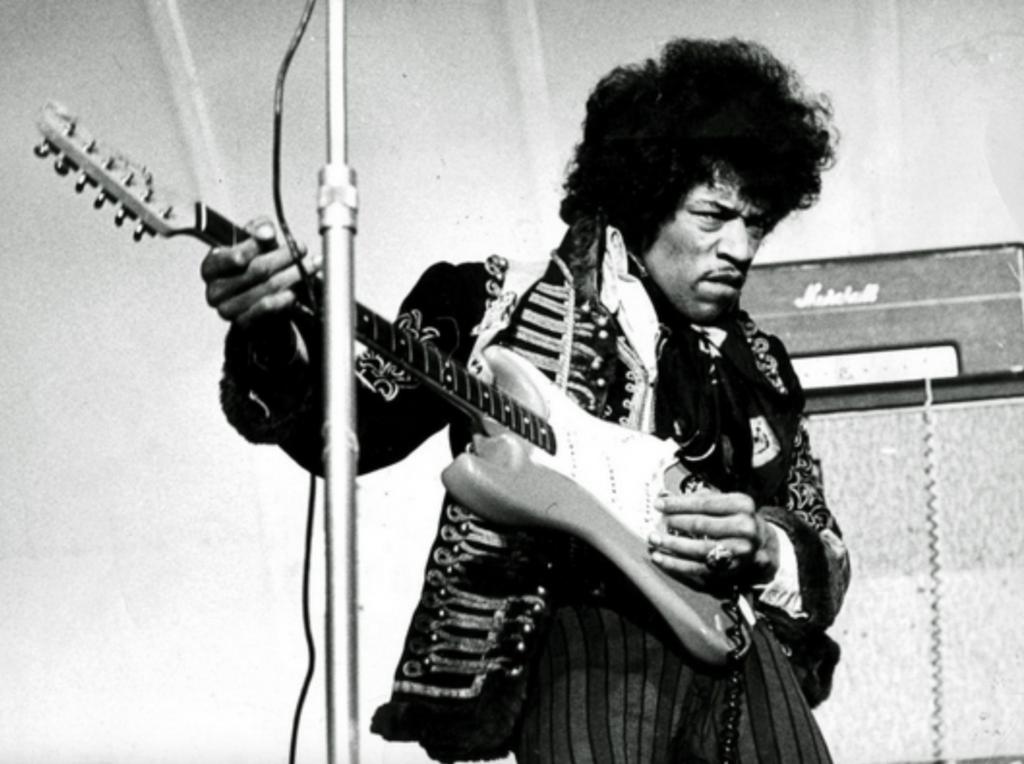 Jimi Hendrix guitarra electrica Fender Marshall