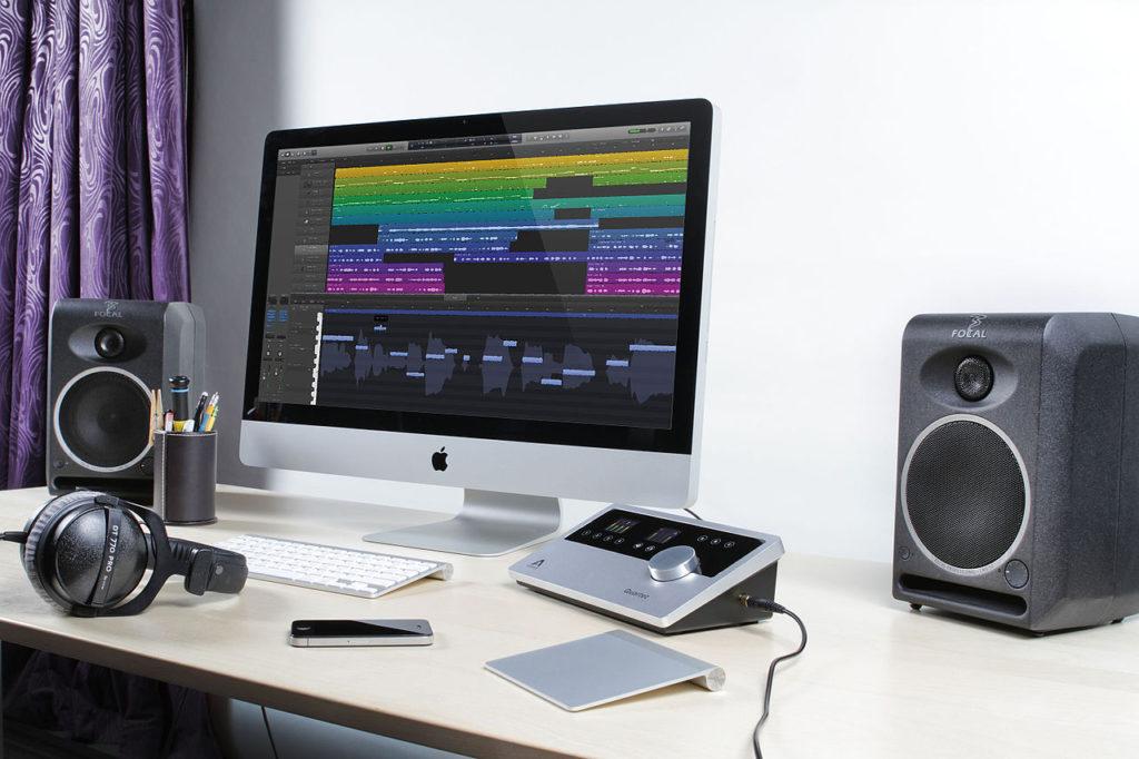 Imagen de un home studio mostrando un DAW