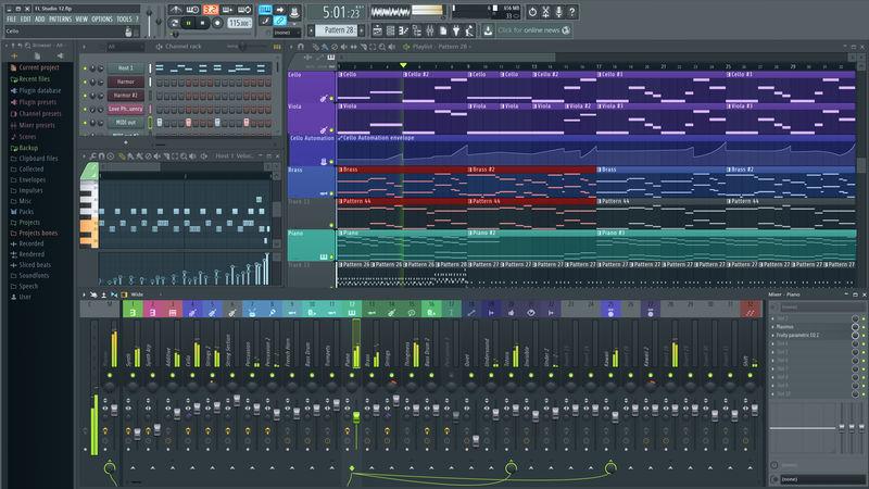 Interfaz de FL Studio