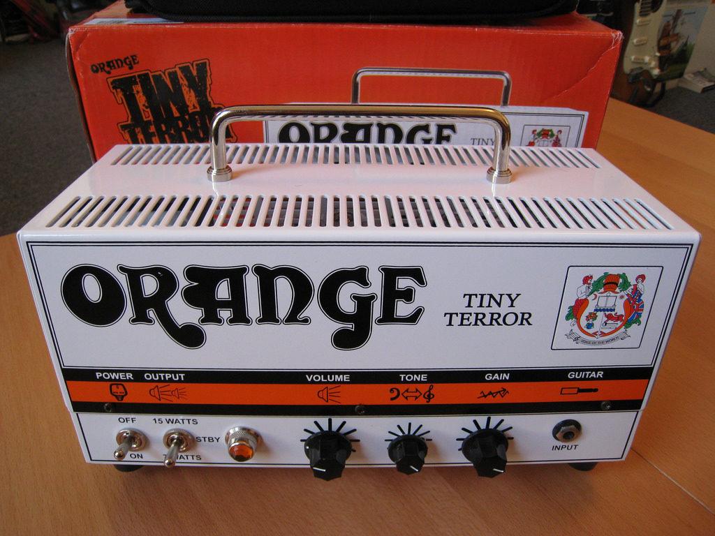 Amplificadores de valvulas, en este casi el mitico Orange Tiny Terror