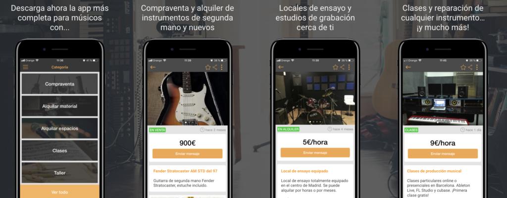 app para músicos Sounds Market