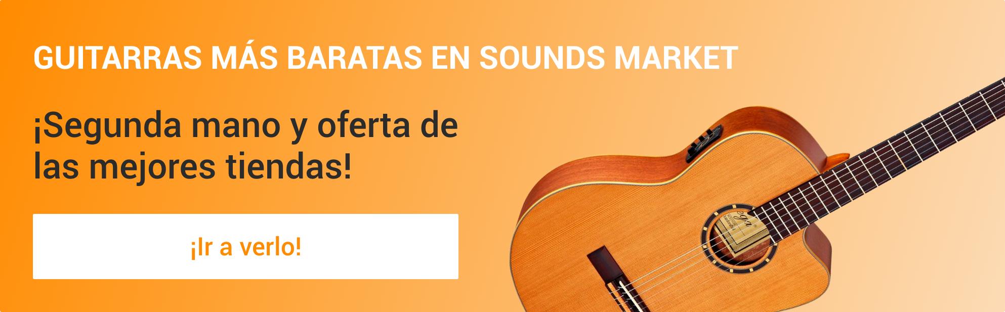 Las mejores guitarras de segunda mano y de ocasion en Sounds Market