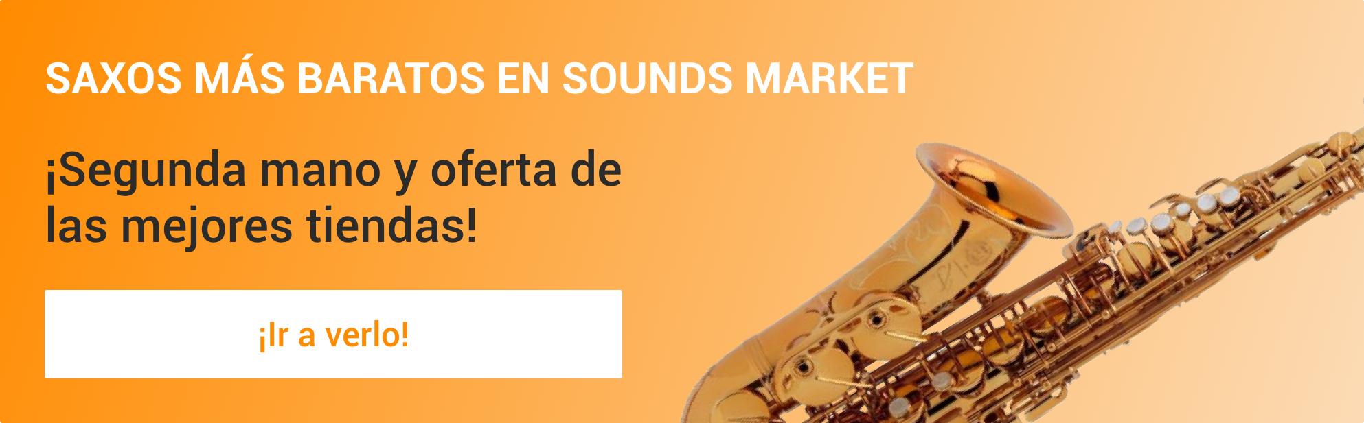 Saxos mas baratos en Sounds Market