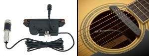 Sistemas de amplificacion de guitarras acusticas hibridos