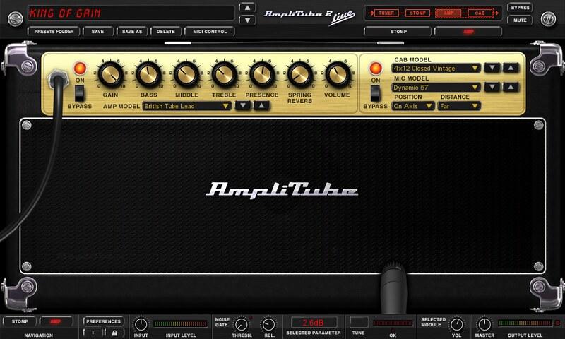 Amplitube app guitar amp